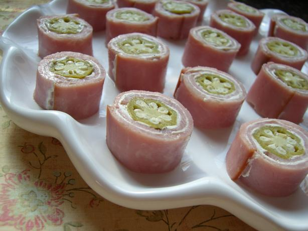 Ham & Okra rollups. Photo by Chef*Lee