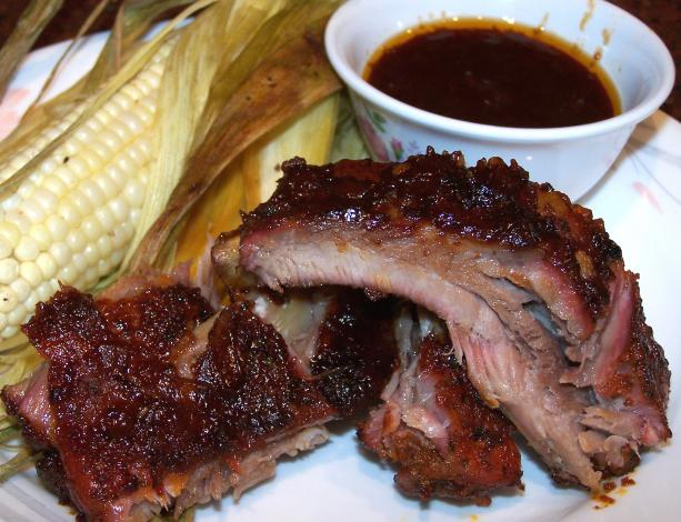Slow Smoked Pork Ribs. Photo by Rita~