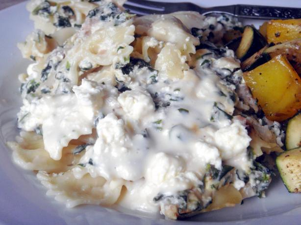 Greek Spinach Pasta Bake. Photo by Lori Mama
