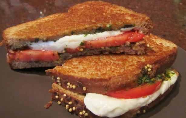 Tomato, Mozzarella & Pesto Panini. Photo by Rita~