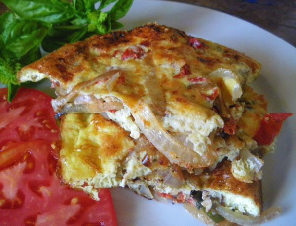 Tomato and Basil Frittata. Photo by Bergy