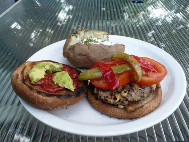 Black Bean-Brown Rice Burgers. Photo by Hannah Verrinder