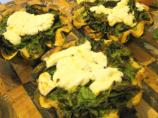 Little Wild Sorrel and Herb Tarts With Melted Goat's Cheese