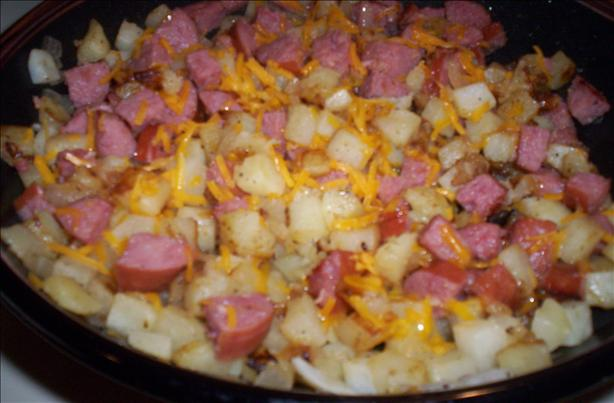Kwick Kielbasa Hash. Photo by Chef shapeweaver &copy;