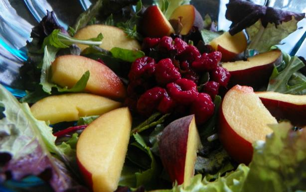 Cote D'azur Fruit and Greens Salad With Honey Lemon Dressing. Photo by Baby Kato