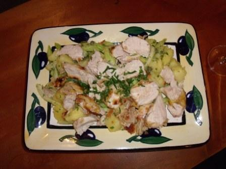 Chicken Salad Piccata. Photo by Kiwi Kathy