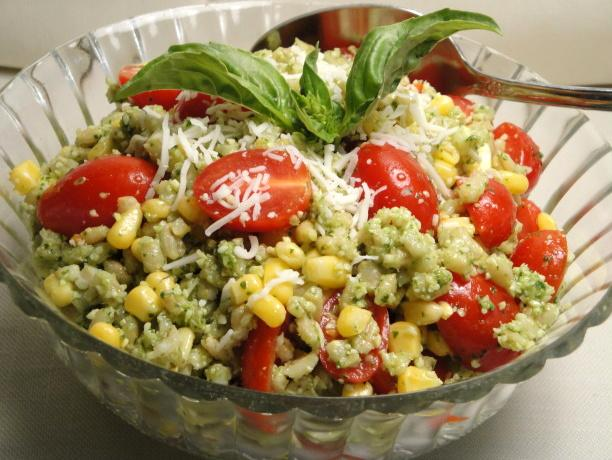 Barley Salad With Tomatoes and Corn. Photo by Debbwl