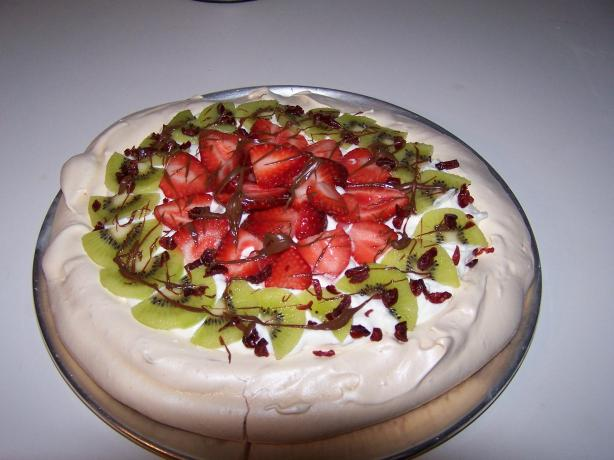 Strawberry Kiwi Pavlova. Photo by Chef Jean