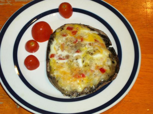 Grilled Portobello Omelette. Photo by Maryland Jim