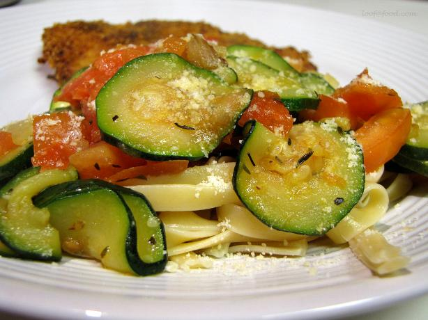Fresh Zucchini Pasta Sauce. Photo by loof