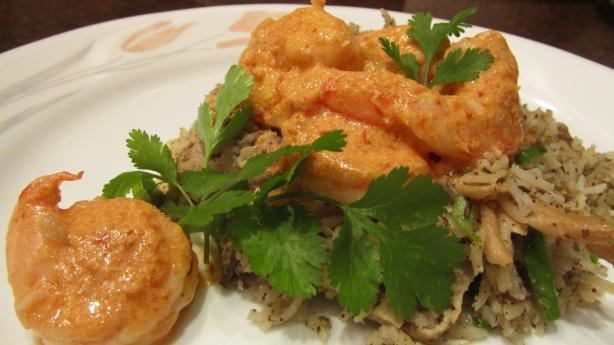 Shrimp With Creamy Orange-Chipotle Sauce. Photo by Rita~