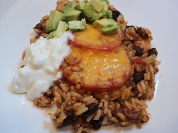 Mexican Rice Casserole With Ground Beef. Photo by Nif