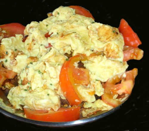 Chinese Eggs and Tomatoes. Photo by Bergy