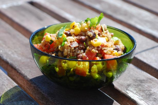 Quinoa and Corn Salad. Photo by Katzen