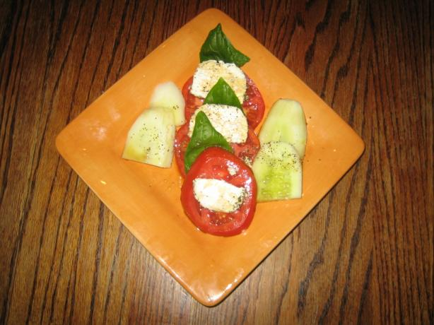 Tomato Lemon Basil and Goat Cheese Salad. Photo by Chef #848413