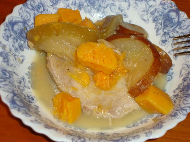 Crock Pot Pork Tenderloin With Apples and Sweet Potatoes. Photo by *Z*