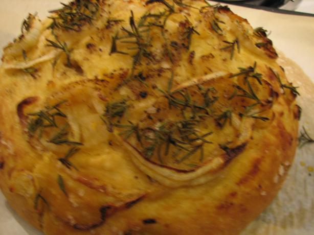 Onion and Rosemary Focaccia (No-Knead). Photo by Galley Wench