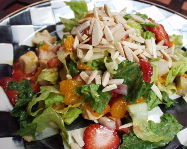 Strawberry, Orange & Almond Chicken Salad. Photo by FLKeysJen