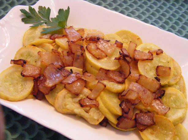 Squash Sauteed With Onions. Photo by Seasoned Cook