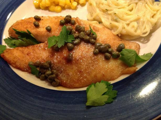Fish Fillets With Lemon and Caper Sauce. Photo by AZPARZYCH