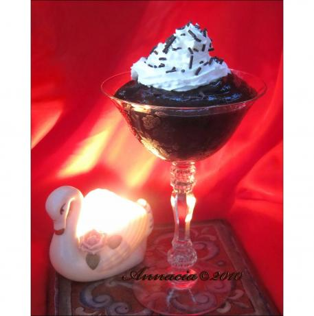 Silly Easy Chocolate Creme De Menthe Pudding. Photo by Annacia