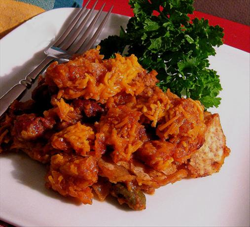 Meatloaf Enchilada Casserole. Photo by Caroline Cooks