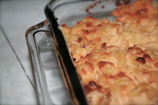 Lightened Fannie Farmer's Classic Baked Macaroni and Cheese. Photo by EyesForASkinnyFuture