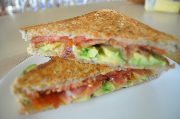 Spicy Grilled Bacon and Tomato Sandwich With Avocado. Photo by I'mPat