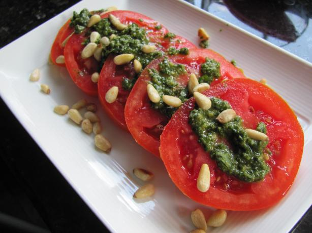 Fresh Pesto and Tomato Salad. Photo by JanuaryBride