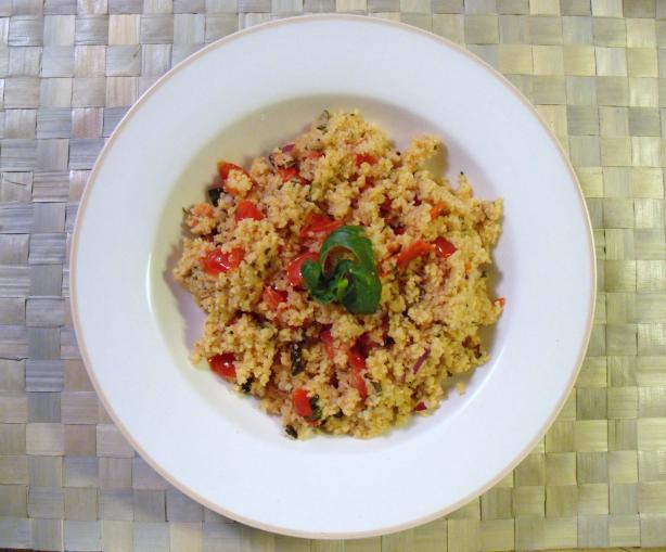 Roasted Garlic Couscous With Tomatoes &amp; Basil. Photo by ~la petite chef~