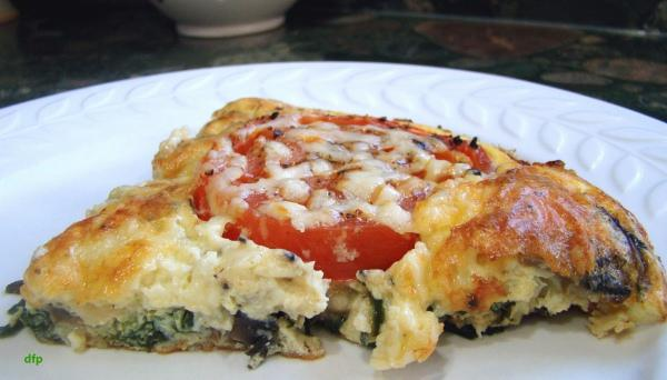 Tomato and Spinach Frittata. Photo by Derf