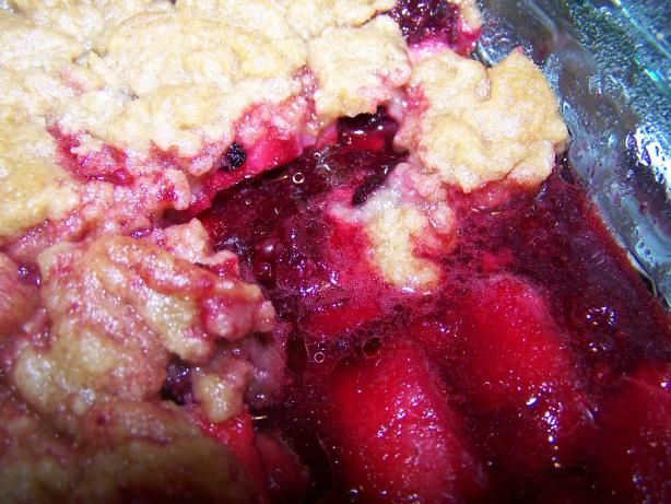 Blackberry and Apple Crisp. Photo by Chef PotPie