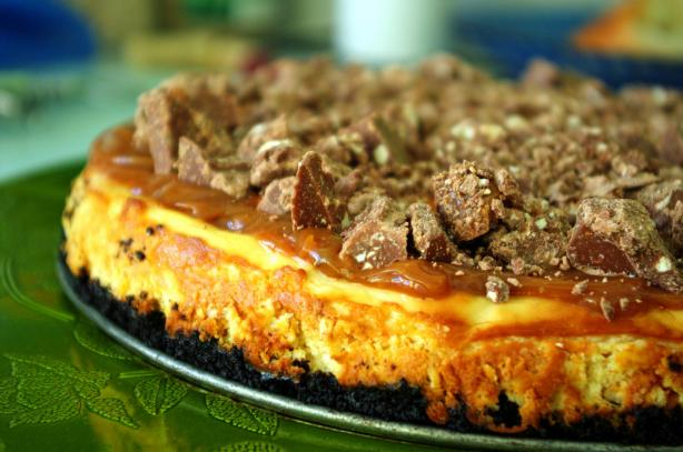 Toblerone-Topped Caramel Cheesecake. Photo by Redsie