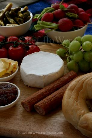 An Indoor Camembert Picnic Platter for Parties and Fêtes!. Photo by Chef floWer