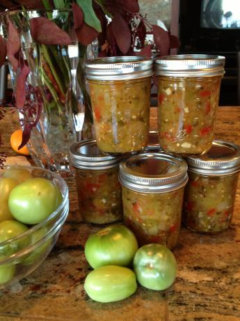Green (Un-Ripe) Tomato Salsa for Canning. Photo by RenoFoodie