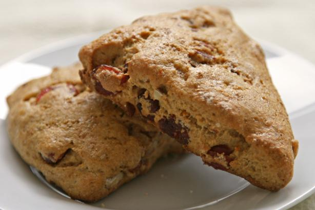 Vegan Orange Cranberry Scones. Photo by Hanna Louise