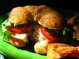 Turkey & Cheese Croissant Sandwich