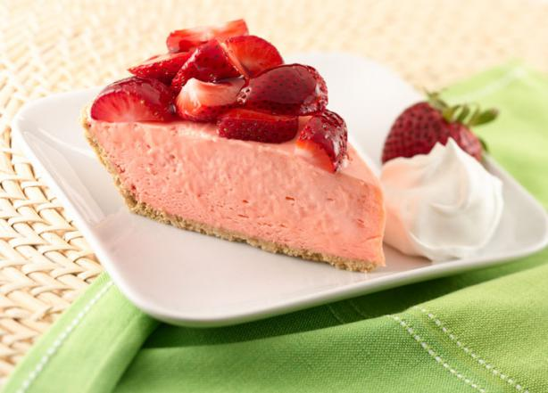 Nasoya Strawberry Cream Pie With Sugar Cookie Crust. Photo by Chef #1418921