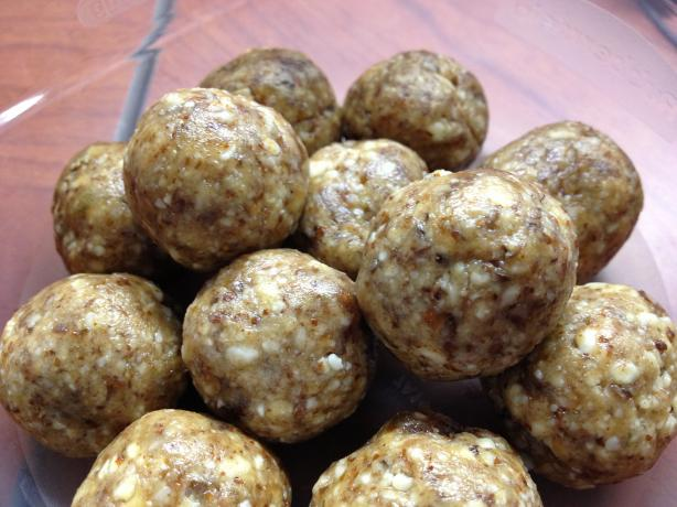 Almond Tahini Date Balls. Photo by stacato