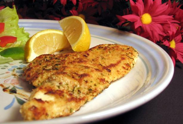 Pan-Fried Chicken Schnitzel-Style. Photo by Dreamer in Ontario