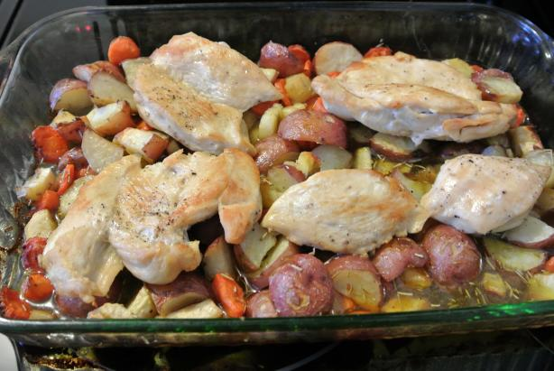 Easy Roast Chicken Dinner. Photo by morgainegeiser