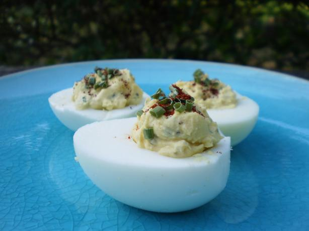 A Little Bit Spicy Deviled Eggs!. Photo by breezermom