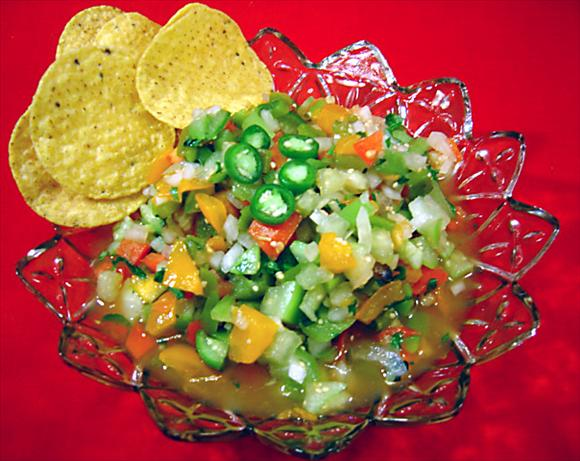 Roasted Garlic Green Tomato Salsa. Photo by :(