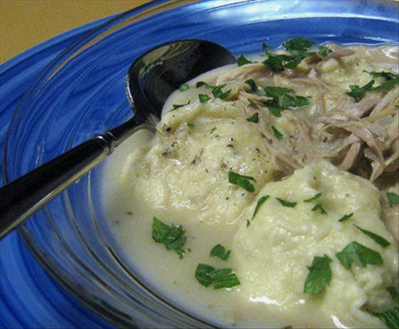 Chicken &#39;n Dumplings - old style. Photo by Caroline Cooks