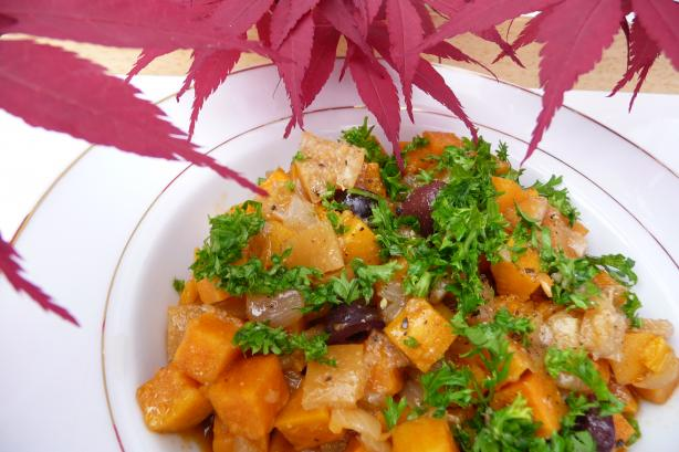 Sweet Potato Salad (Slada Batata Hilwa) -Moroccan. Photo by Tea Jenny