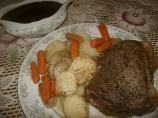 Sunday (Game Day : ) Roast Beef Dinner