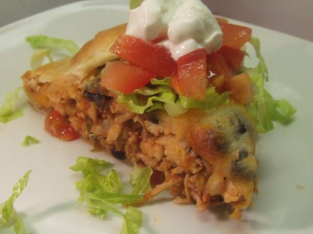 V's Southwestern Chicken Flat Pie. Photo by Vseward (Chef~V)