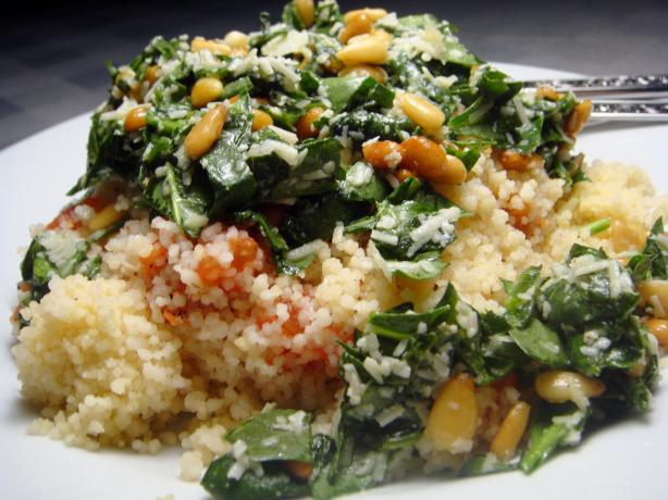 Baked Couscous With Tomato and Pesto. Photo by Lori Mama