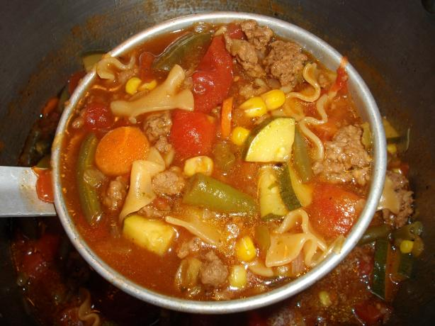 Zesty Italian Hamburger Helper Soup. Photo by Domestic Goddess