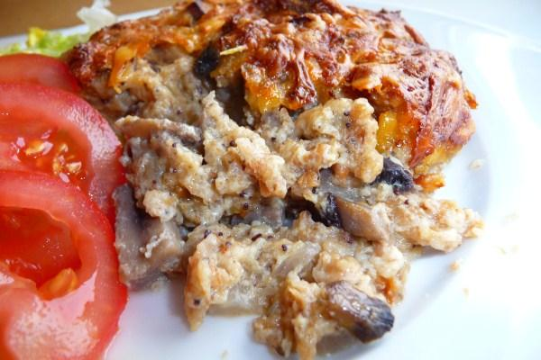 Mushroom Bread Pudding. Photo by Tea Jenny